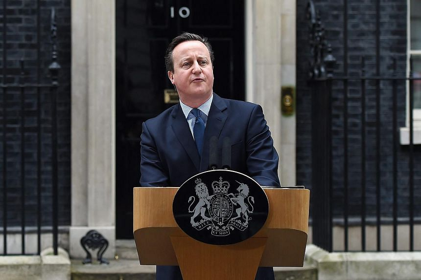 British Prime Minister David Cameron delivering a statement on his EU deal in London, Britain, on Feb 20, 2016.