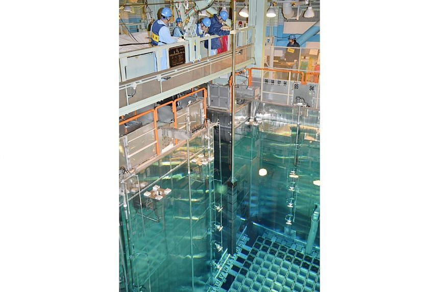A fuel rod is inserted in a reactor vessel at the Kansai Electric Power's Takahama nuclear power plant on Dec 25, 2015.