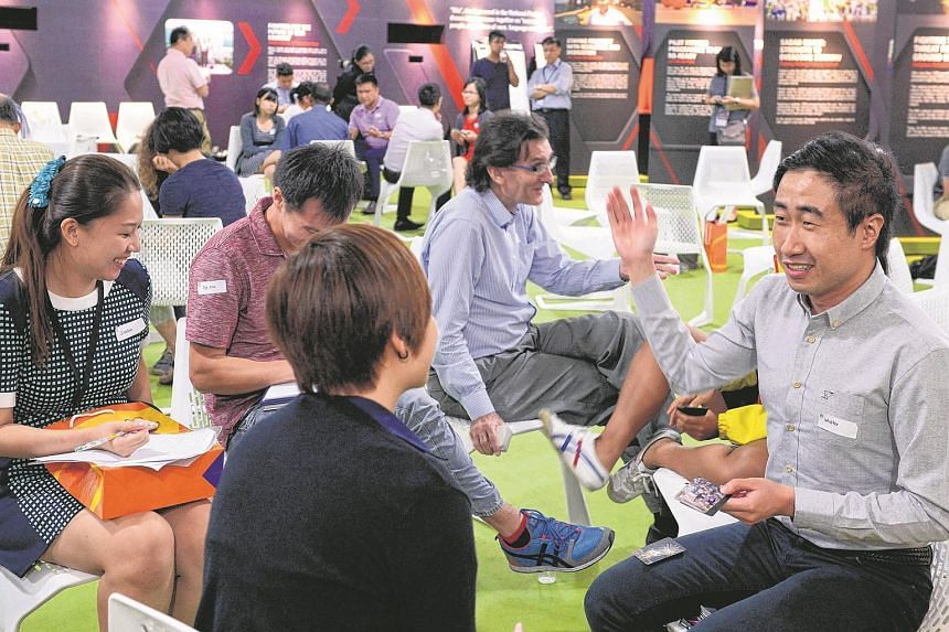 A dialogue session taking place at The Marketplace of the Future Of Us exhibition at Gardens By The Bay on Feb 16, 2016.