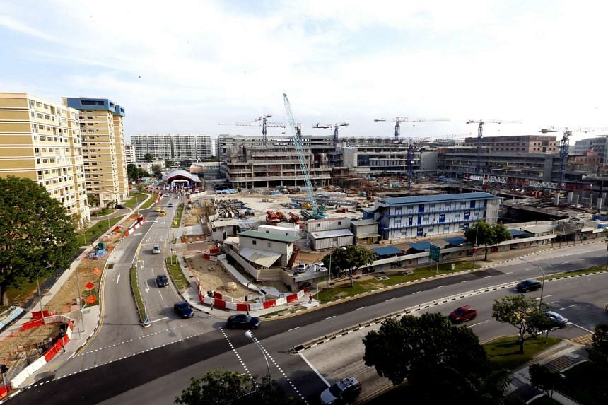 Our Tampines Hub, which is still under construction, will open in stages from November this year.