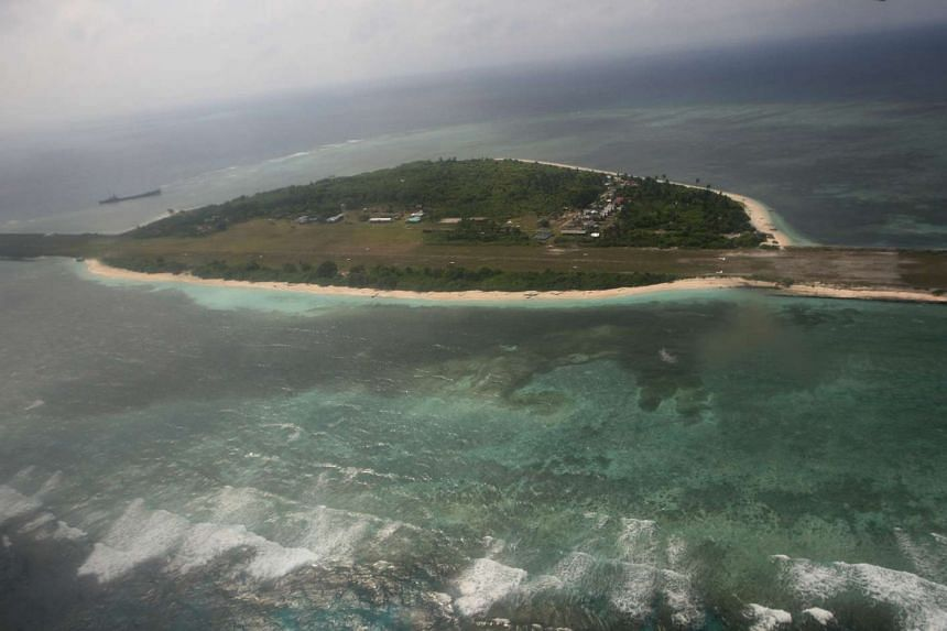 An aerial view of Pagasa Island, a part of the disputed Spratly group of islands in the South China Sea.