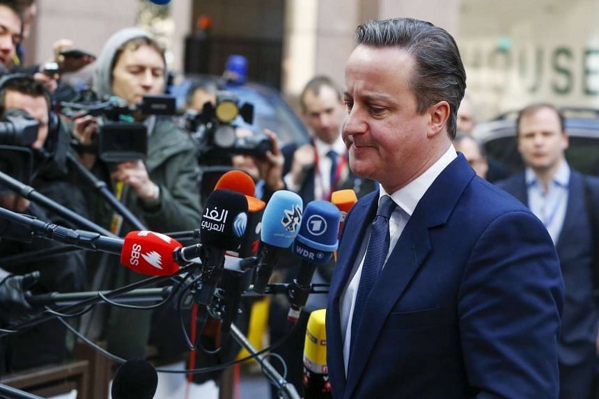 British Prime Minister David Cameron arrives at the EU council headquarters on Feb 19, 2016, for a second day of a European Union leaders summit addressing the talks about the so-called Brexit and the migrants crisis, in Brussels, Belgium.