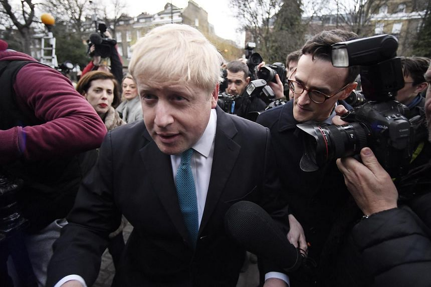 Mayor of London Boris Johnson speaks to reporters after announcing that he is to campaign to leave the EU, on Feb 21, 2016.