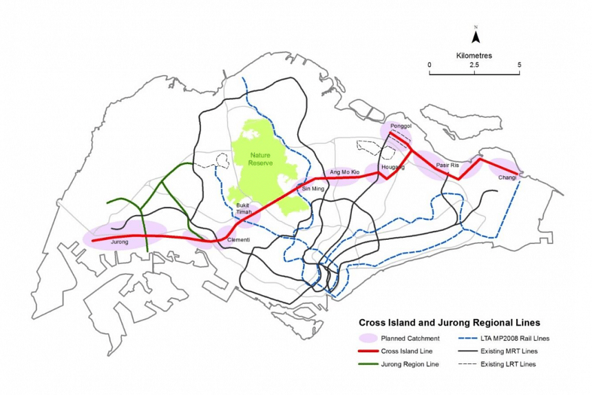 The Nature Society suggests two alternative routes, running around the northern and southern edges of Singapore's largest nature reserve, to the proposed train line that cuts through the forest near MacRitchie Reservoir.