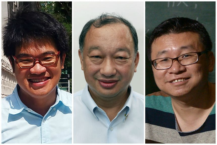(From left) Liew Kai Khiun, Eric Tan and Kok Heng Leun, who submitted their applications to be a Nominated MP on Feb 22, 2016.
