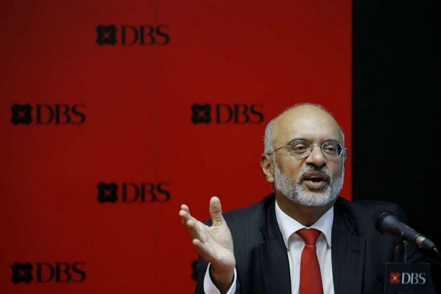 DBS Chief Executive Officer Piyush Gupta speaks during their fourth quarter earnings announcement in Singapore on Feb 22, 2016.