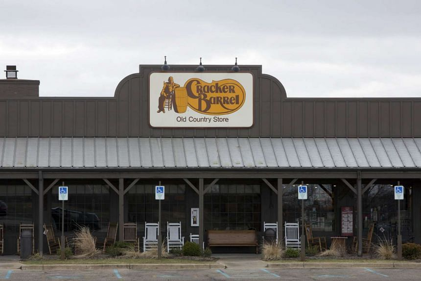 A general view of the Cracker Barrel where a gunman went on a shooting rampage, on Sunday (Feb 21)  in Kalamazoo, Michigan.