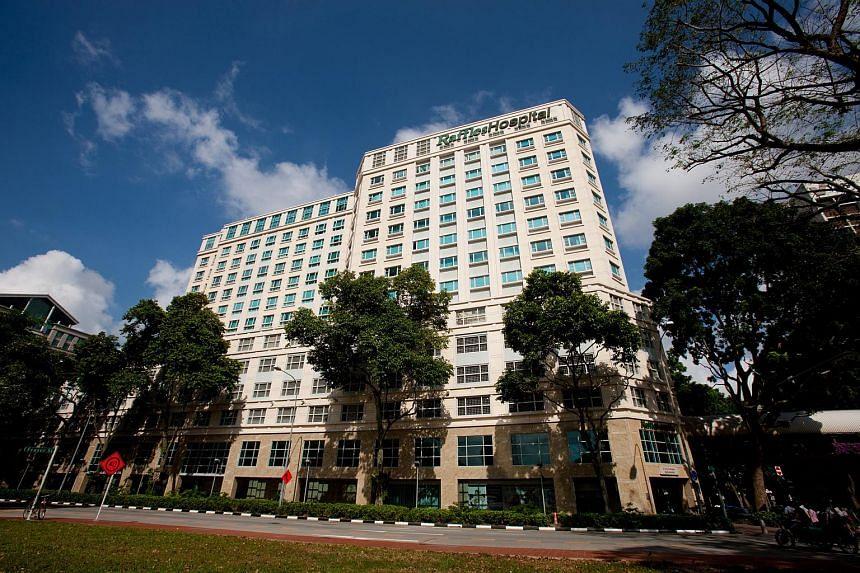 Raffles Hospital at North Bridge Road.