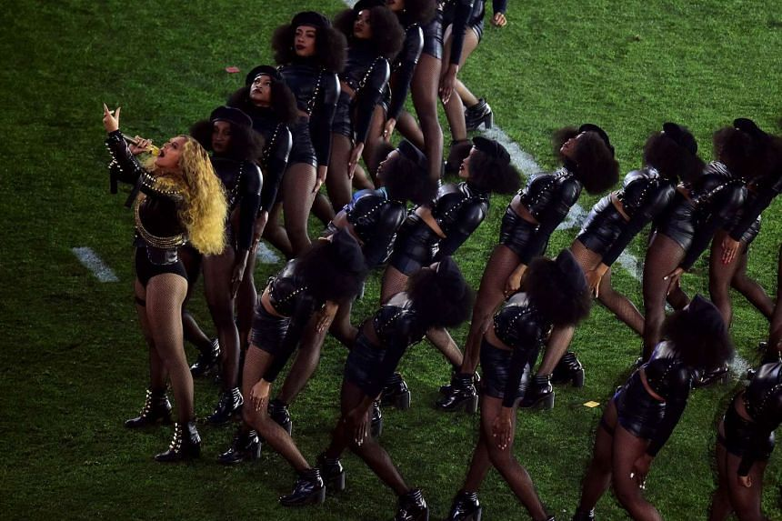 Beyonce and her dancers wore outfits perceived to be reminiscent of the Black Panther movement for the Super Bowl half-time performance.