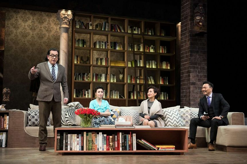 (From left) Anthony Wong, Louisa So, Olivia Yan and Poon Chan Leung star in God Of Carnage.