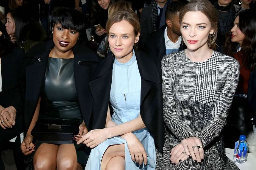 (From far left) Jennifer Hudson, Diane Kruger and Jaime King were at the Jason Wu show, while Katie Holmes attended the show by Zac Posen.