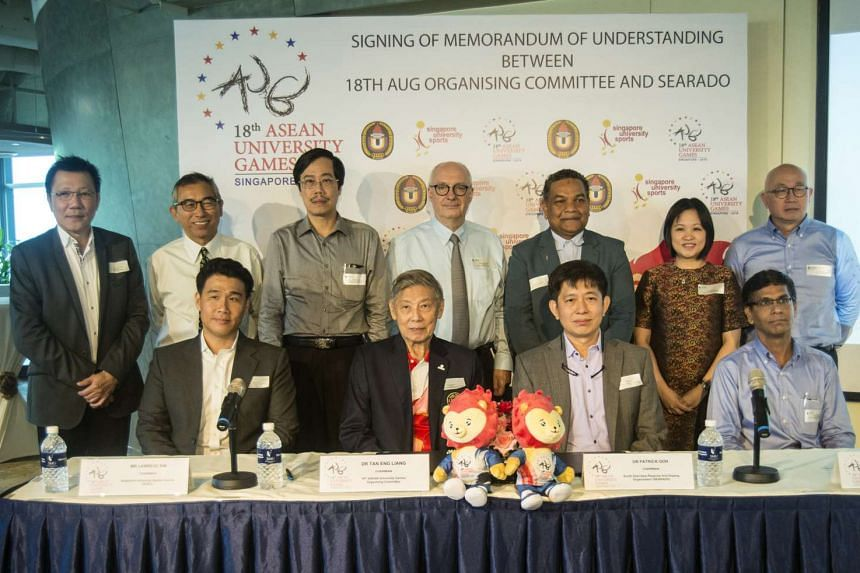 MOU signing between the 18th Asean University Games Organising committee and the South East Asia Regional Anti-Doping Organisation.