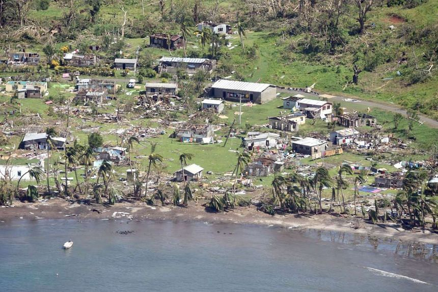 The damage to Taviya village after the most powerful cyclone in Fiji's history battered the Pacific island nation.