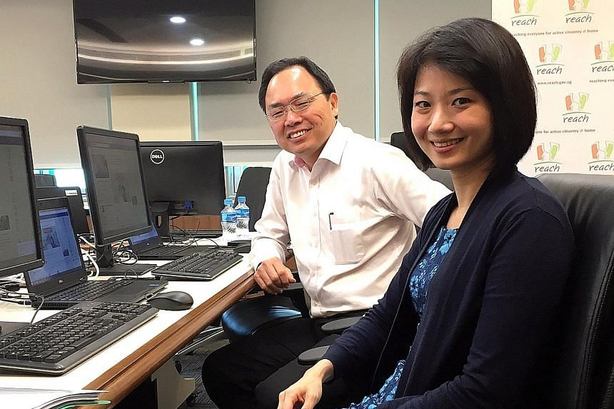 The Reach Pre-Budget Facebook Q&A session yesterday was chaired by Mr Liang, chairman of the Government Parliamentary Committee for Finance and Trade and Industry, and Ms Sun, a committee member.