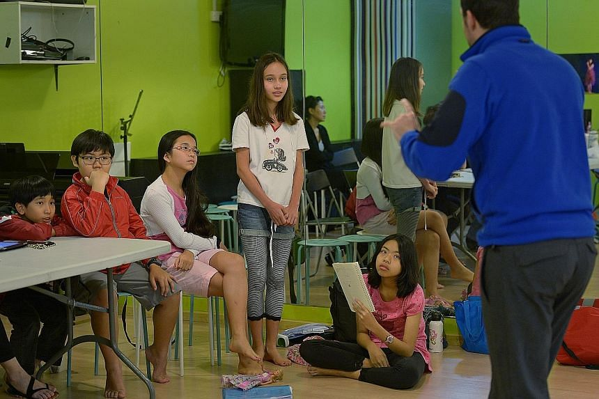 Children hoping to enter the School of the Arts at a preparatory camp in 2014. Many direct school admission (DSA) applicants hope to join Integrated Programme schools. There is growing concern that children with richer parents can be groomed to enter