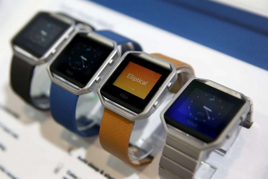 Fitbit Blaze watches are displayed during the 2016 CES trade show in Las Vegas, Jan 6, 2016.