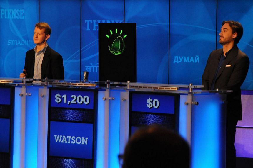 File picture of Mr Ken Jennings (left) and Mr Brad Rutter, the two most successful and celebrated contestants on popular American quiz show Jeopardy.