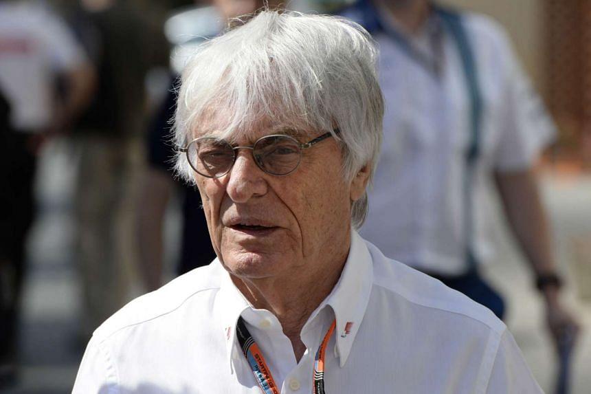 Formula 1 boss Bernie Ecclestone walks in the paddock on Nov 27, 2015 ahead of the Abu Dhabi Formula One Grand Prix.