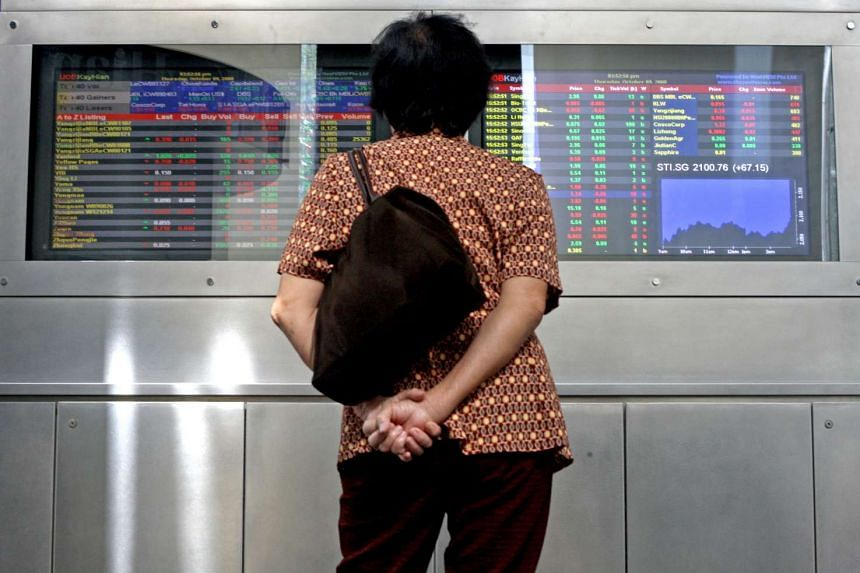 The local benchmark Straits Times Index dropped 52.11 points or 1.95 per cent to 2,619.96, snapping its recent good run.