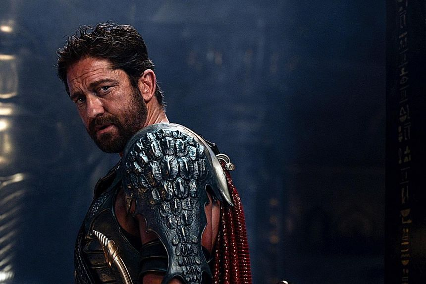 Gerard Butler says the intense sword-fighting scenes he needed to film in Gods Of Egypt forced him to get into shape.
