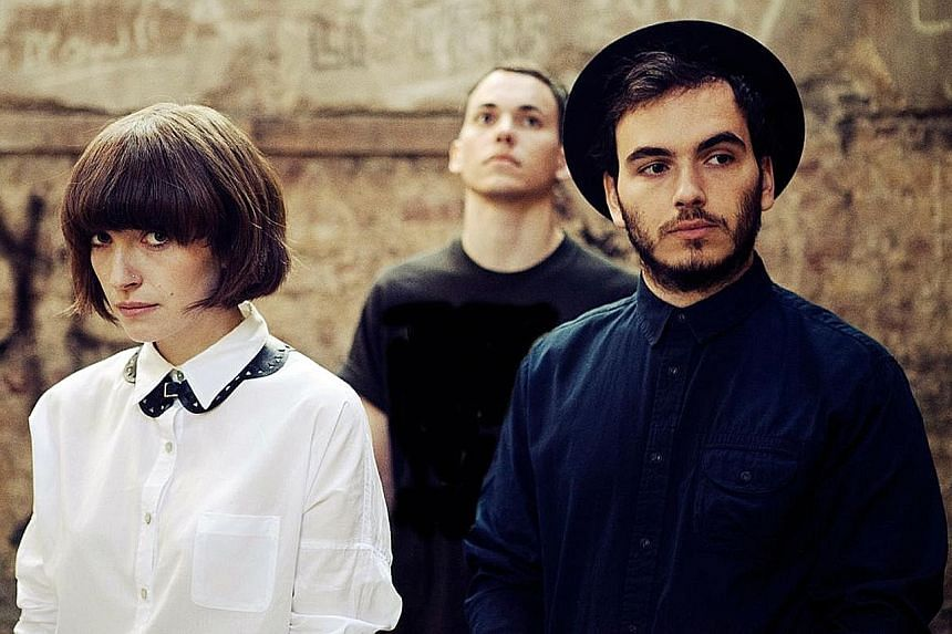 London indie folk band Daughter comprise (from left) Elena Tonra, Igor Haefeli and Remi Aguilella.