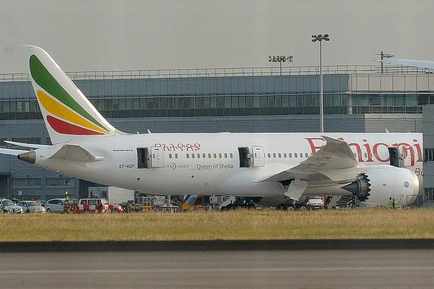 Lithium battery- powered equipment is suspected to have caused a fire in this Boeing 787 Dreamliner at Heathrow Airport in London in 2013. The ICAO's precautionary step comes after years of industry concerns that such batteries could fuel undetected