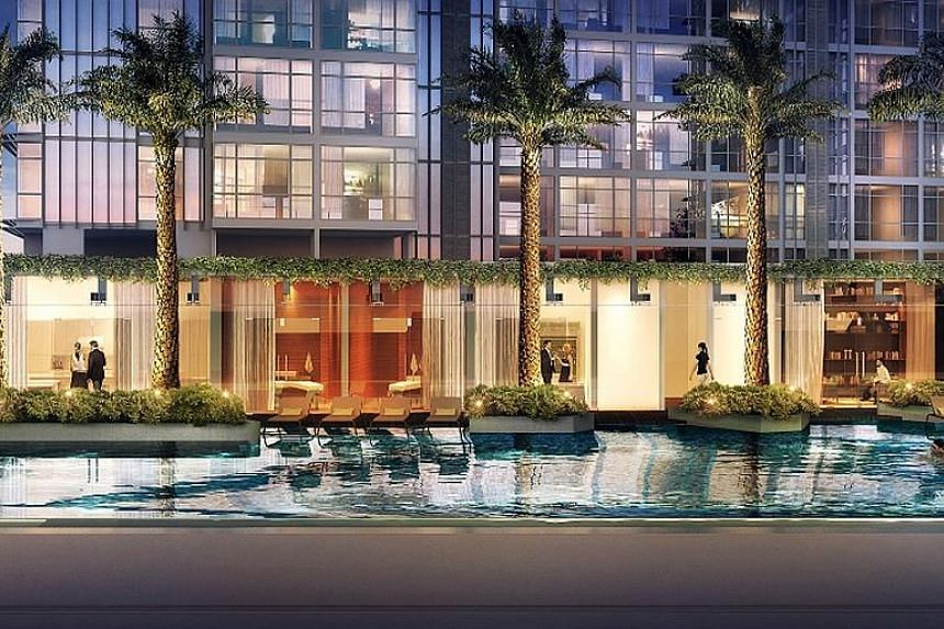 The integrated project comprises the 220-unit Ascott Orchard Singapore and 268-unit Cairnhill Nine condo (above). The condo is a 99-year leasehold project with almost 90 per cent of units being one- to two-bedroom units, ranging in size from 592 sq f