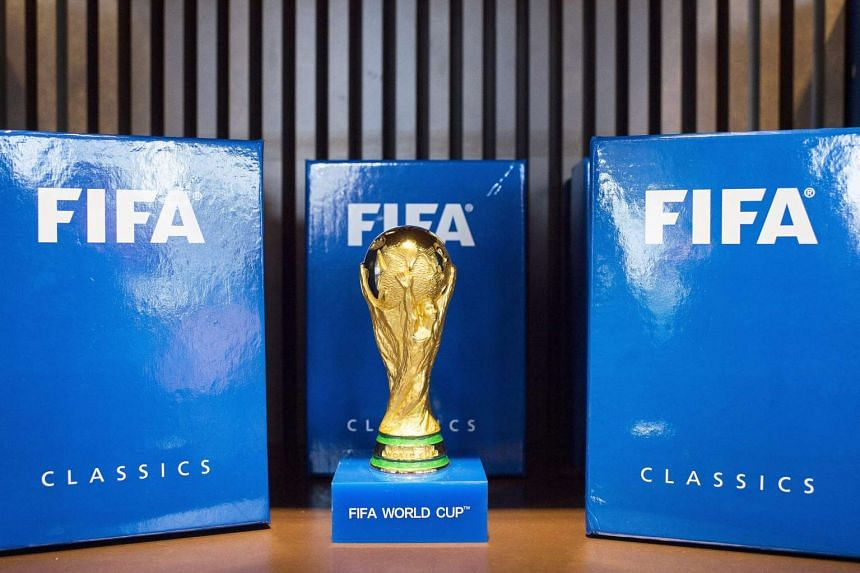 The Fifa World Cup trophy on display during a preview of the new Fifa World Football Museum in Zurich, Switzerland, Feb 24, 2016.