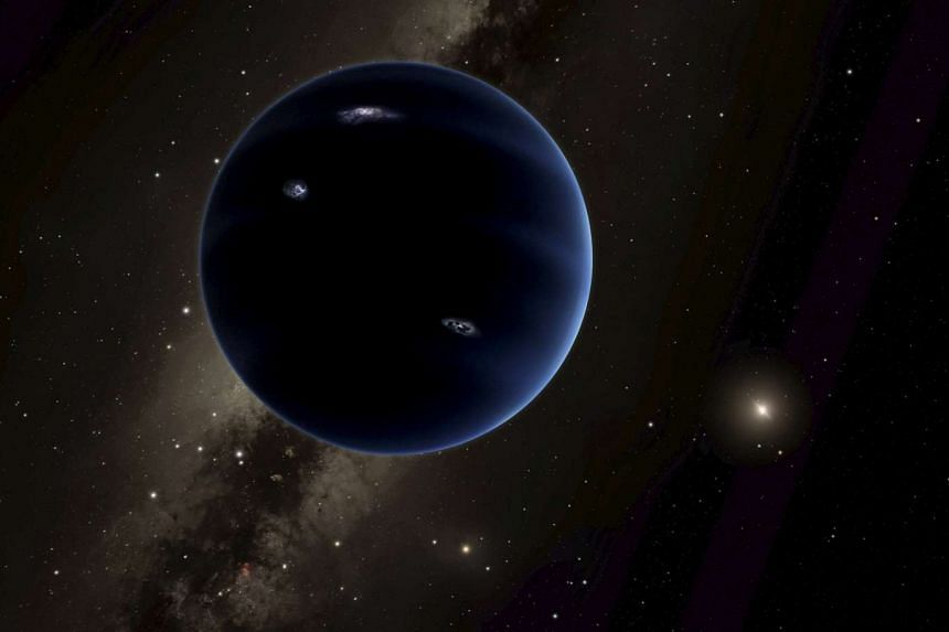 """An artist's rendering shows the distant view from """"Planet Nine"""" back towards the sun."""