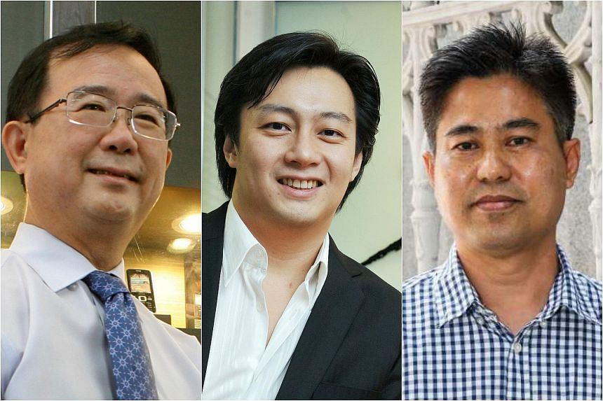 (From left) Alex Siow, Jeremy Tan and David lee.