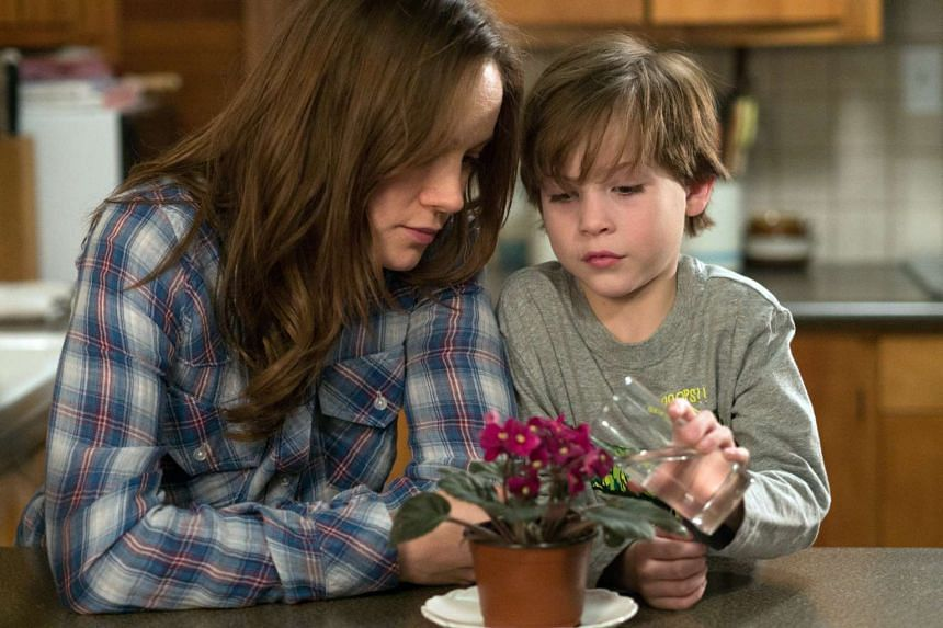 Brie Larson and Jacob Tremblay (both above) in Room.