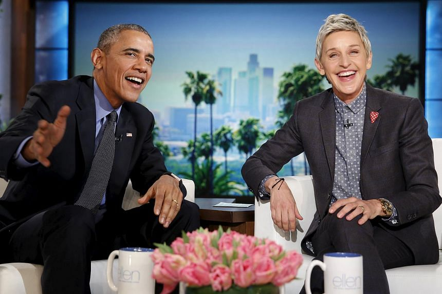 US President Barack Obama's praise of Ellen DeGeneres' role in gay rights advocacy was edited out in the Singapore broadcast of The Ellen DeGeneres Show.