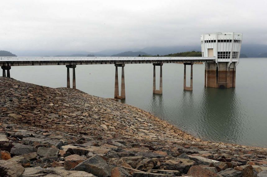 Low rainfall saw the Linggiu Reservoir water level drop to a record low of 43 per cent last November.