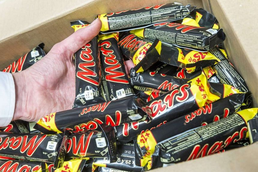 DFS has removed four types of Mars chocolate products made in the Netherlands from its shelves here.