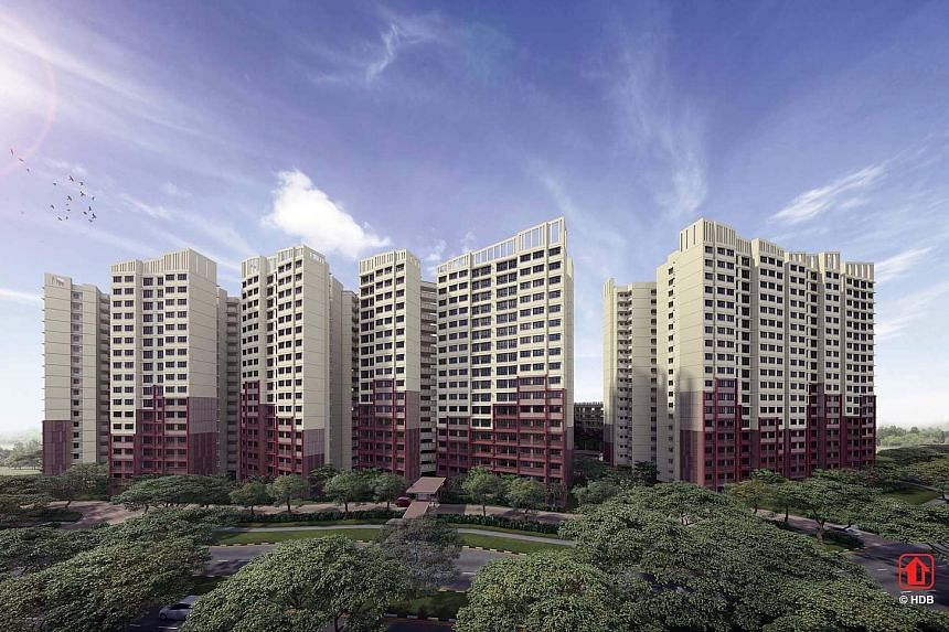 Artist's impressions of (clockwise from above left) West Plains @ Bukit Batok, Alkaff Oasis in the upcoming Bidadari estate and Anchorvale Plains in Sengkang. Property experts named Alkaff Oasis' central location in Toa Payoh as the main reason the p
