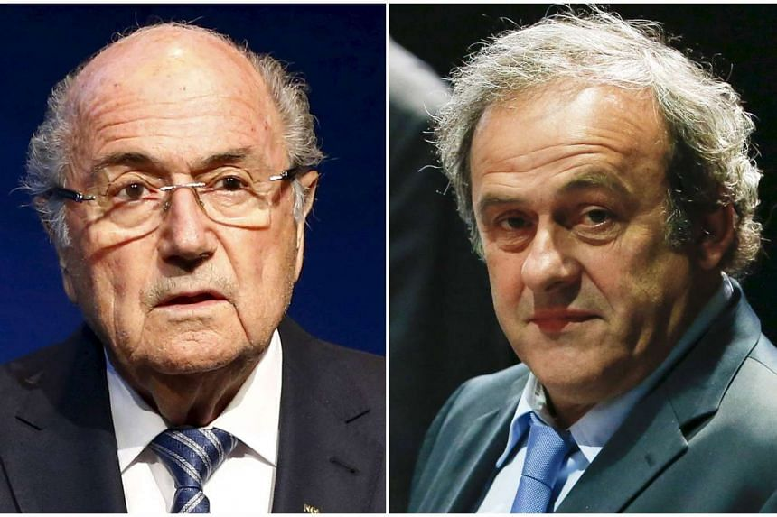 An appeals committee has reduced the bans against Sepp Blatter (left) and Michel Platini from eight to six years.