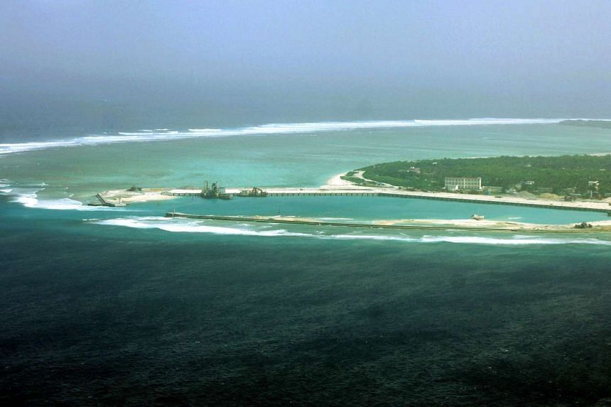 File photo taken on July 27, 2012 shows part of the city of Sansha on the island of Yongxing, also known as Woody island in the disputed Paracel chain, which China considers part of Hainan province.