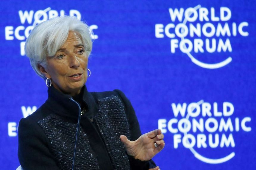 Managing Director of the International Monetary Fund Christine Lagarde attends the The Global Economic Outlook session during the World Economic Forum in Davos, on Jan 23, 2016.