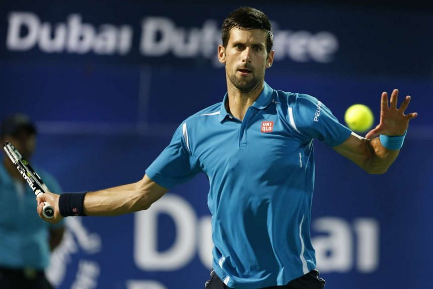 Djokovic (above) won 6-1, 6-2 and will face Spain's Feliciano Lopez for a spot in the last four.