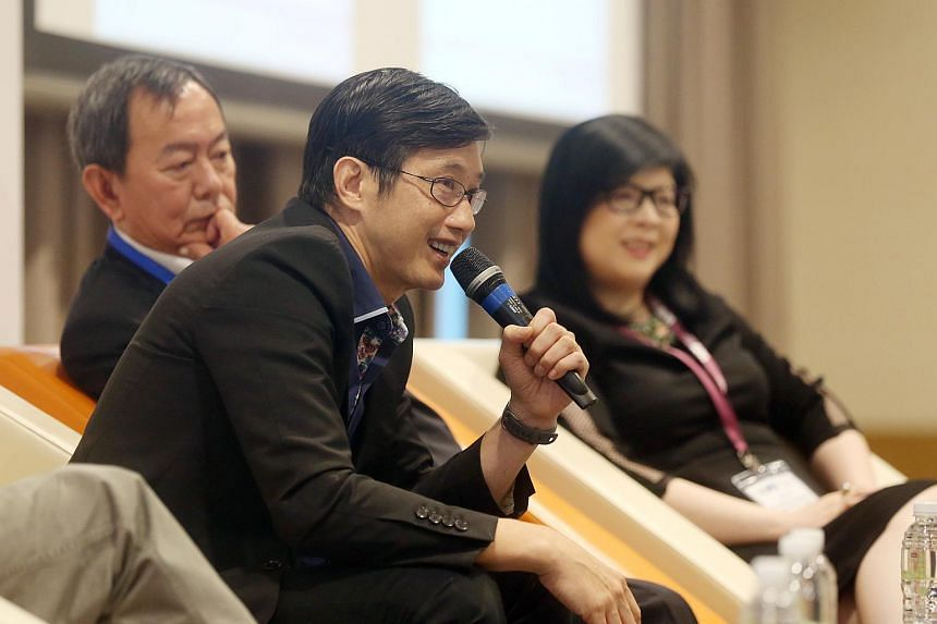 Minister of State for Manpower Teo Ser Luck speaking at a forum organised by the Workforce Advancement Federation.