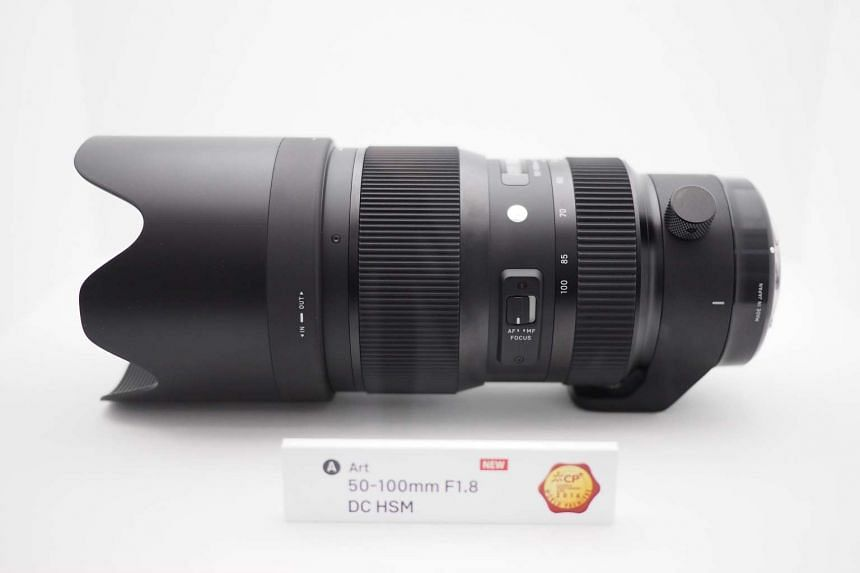 Lens maker Sigma launches the world's first telephoto zoom lens with a constant f/1.8 with the 50-100mm f/1.8 DC HSM lens at the CP+ Camera and Imaging Show in Yokohama, Japan.