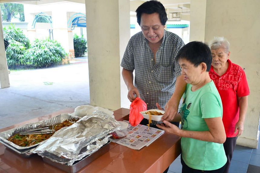 Mr Tan Cheng Tey, 65, buys ingredients and prepares lunch for about 40 seniors in Chai Chee every day.