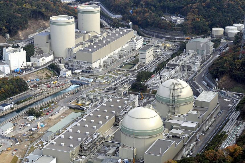 An aerial view of Kansai Electric Power's Takahama nuclear power plant in Japan's Fukui prefecture.