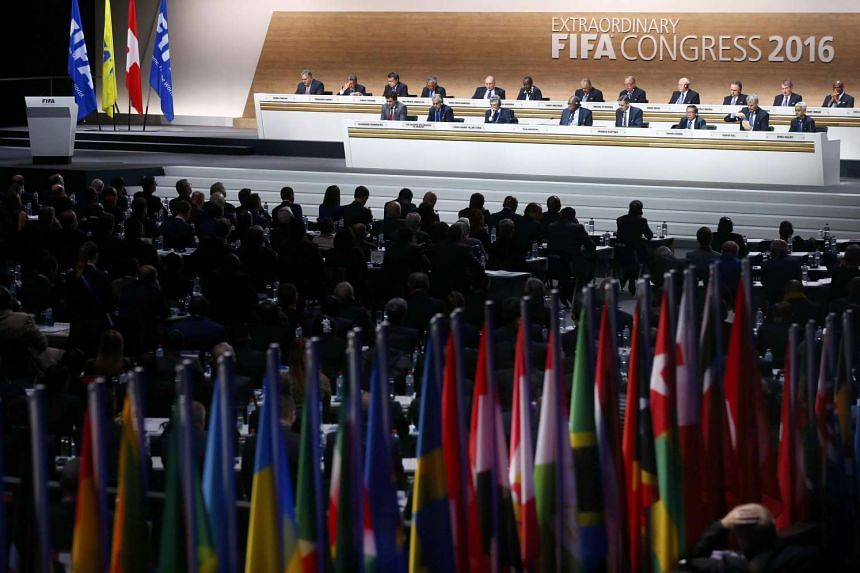 Overview of the Extraordinary FIFA Congress in Zurich, Switzerland on Feb 26, 2016.