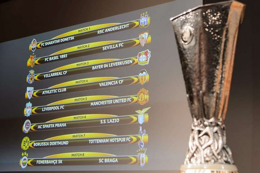 The Round of 16 draw for the Uefa Europa League 2015/16.