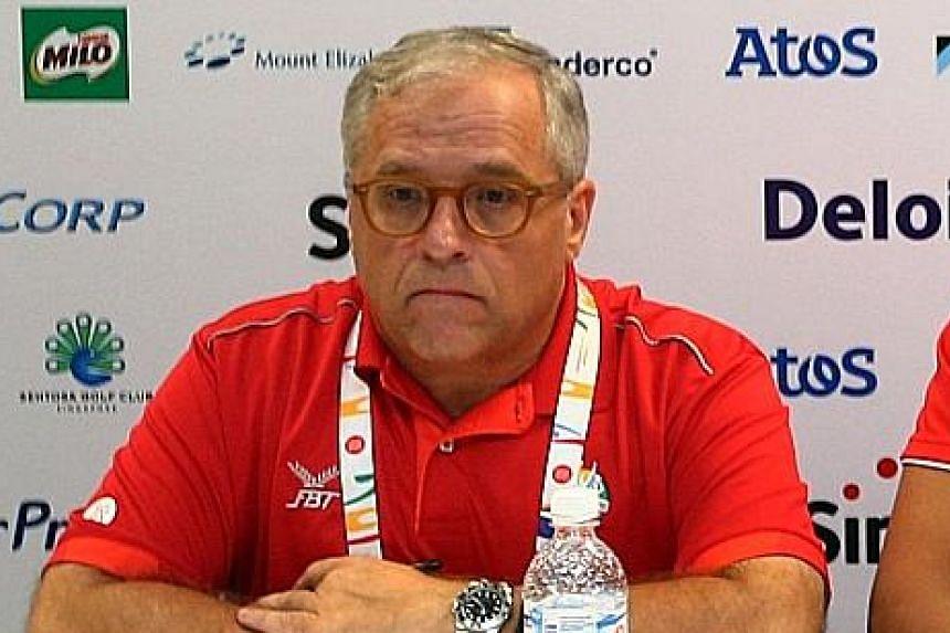 Singapore Sports Institute chief Bob Gambardella at a post-SEA Games media conference last year.