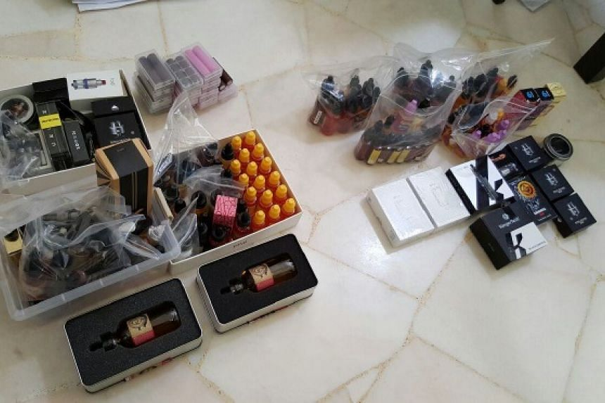 Products seized from the suspect's vehicle and HDB flat. PHOTO: HEALTH SCIENCES AUTHORITY