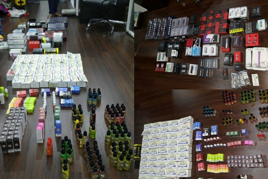 Products seized from the suspect's vehicle and HDB flat.