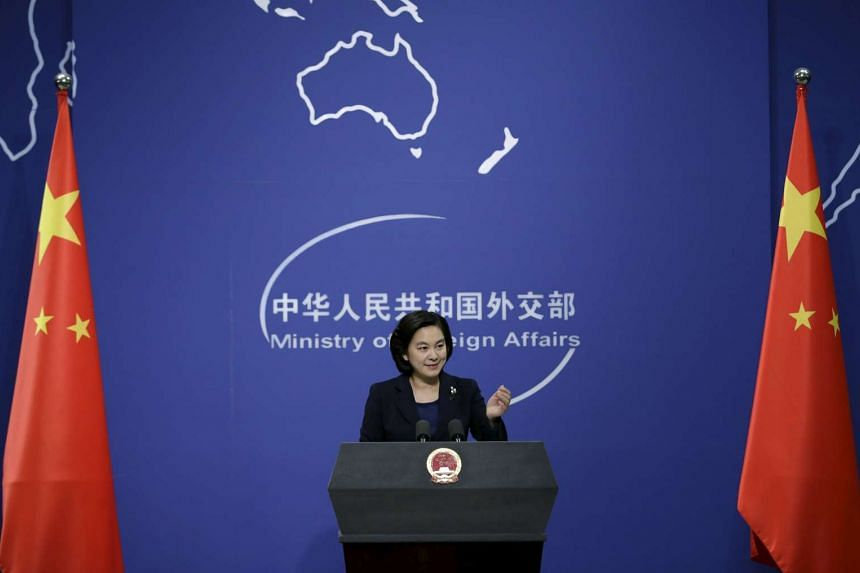 Spokesman of China's Foreign Ministry Hua Chunying gestures at a regular news conference in Beijing, on Jan 6, 2016.