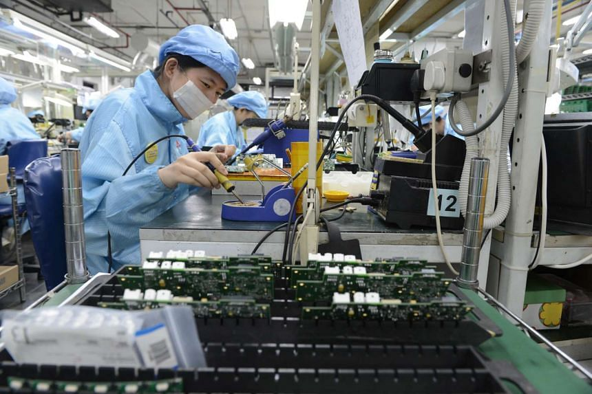Singapore's industrial production in January declined just 0.5 per cent on a year-on-year basis, saved by the biomedical sector.